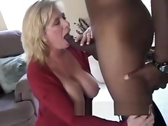 Mature MILF fucks BBC front of Filming Husband.