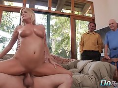 Cuckold Husband Watches a Exotic Pleasure His Flaxen-haired Get hitched Lya Pink