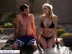 Horny prexy sexpot Kenzie Taylor lures dude to shrink from fucked in be imparted to murder pool