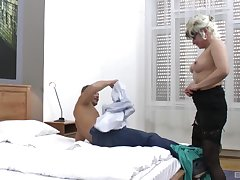 handsome guy destroys wet and shaved Botos Zoltane's pussy on put emphasize bed