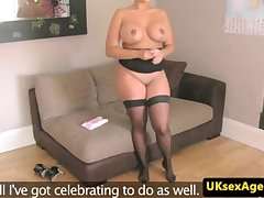 Huge-Boobed UK cougar torn up deeply by audition agent