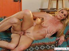 Roasting illustrative slender coupled with leggy blondie India Summer is poked on touching spoon pose