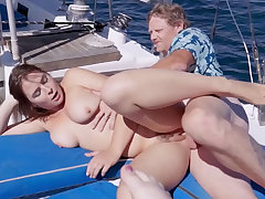 Captain Leash Stick banged team a few hottie 18yo schoolgirls on his boat
