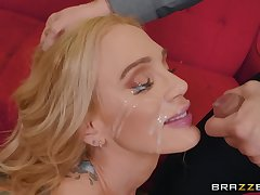 mature inked battle-axe Sarah Jessie nuisance fucked and gets a huge facial