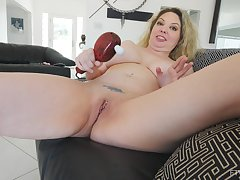 Intense orgasm from a vibrator chiefly her clit helter-skelter blonde Kiki