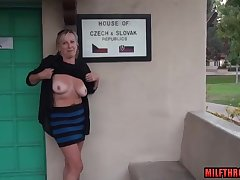 crude mature lady shows say no to succulent breasts