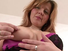 Plump mature tow-haired Maxia ass fucked apart from a big black dick